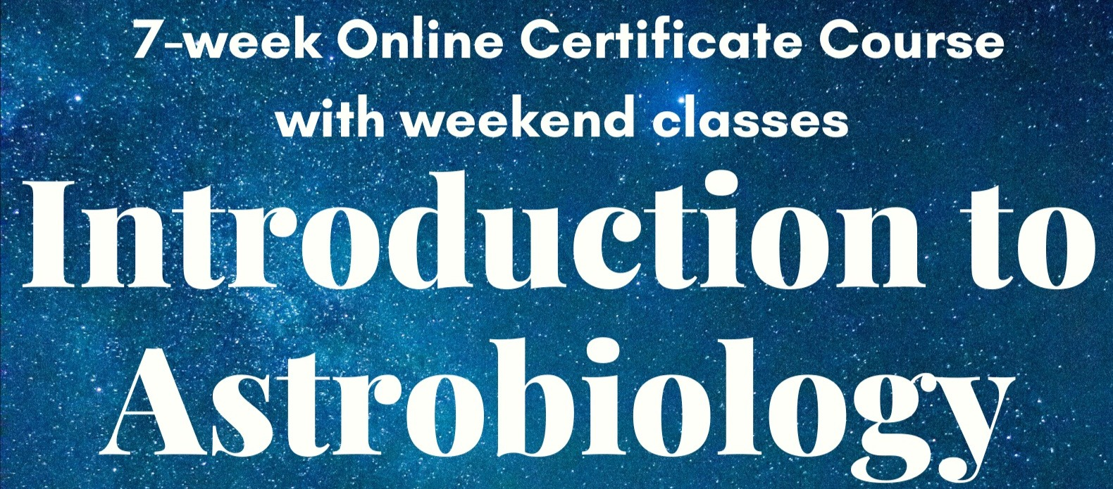 Introduction to Astrobiology Online Course