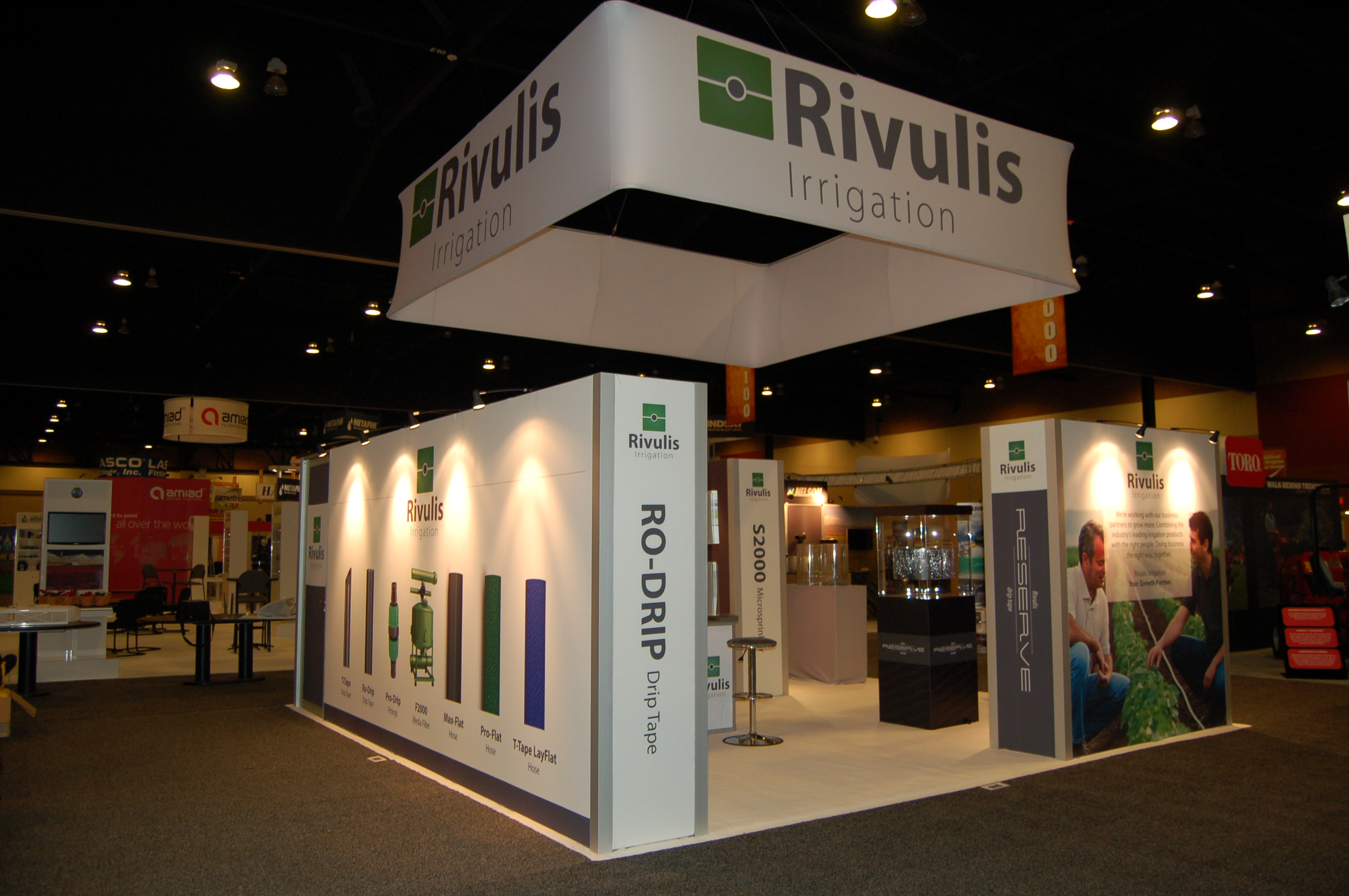 Booth with Extrusion Fabric