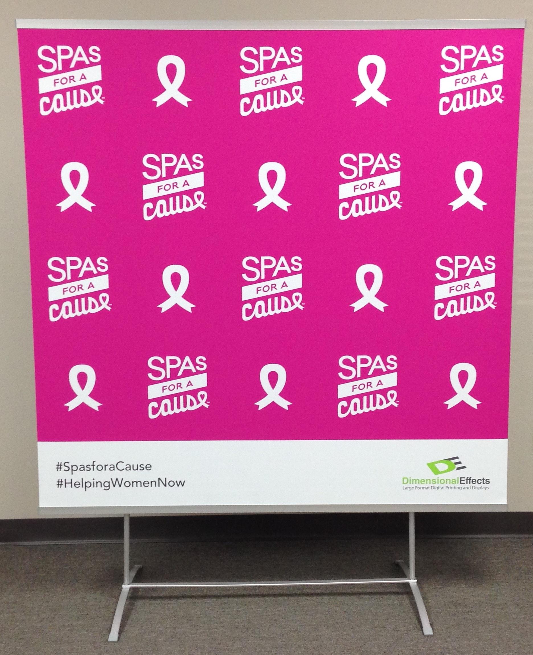 Spas for a Cause Flex Display
