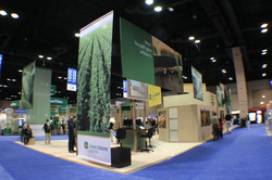 Booth with Hanging Fabrics