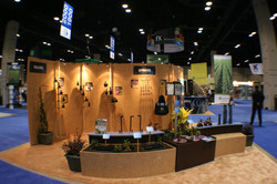 Booth with Solid Walls & Product