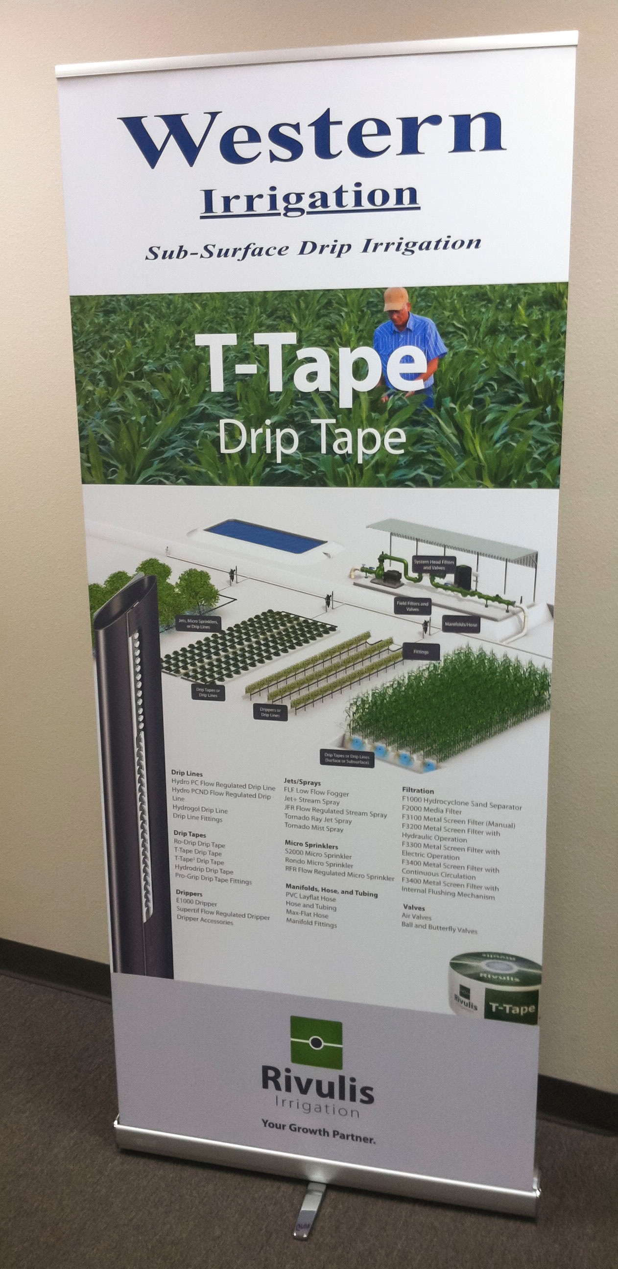 Western Irrigation Retractable Banner