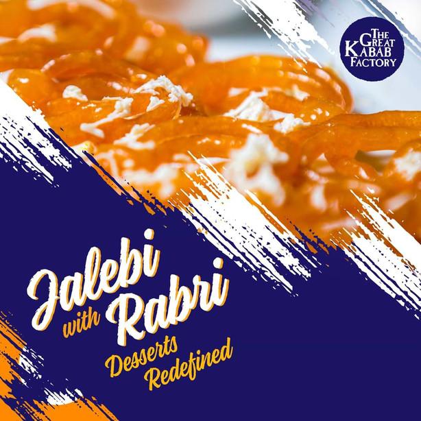Jalebi with Rabri