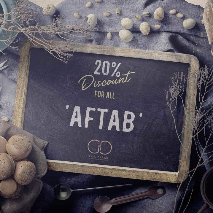 Aftab 20% Discount