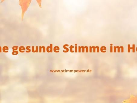 Deine gesunde Stimme im Herbst
