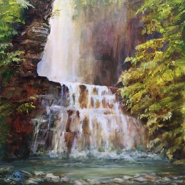B. Rositto, Tall Falls, Oil on Linen