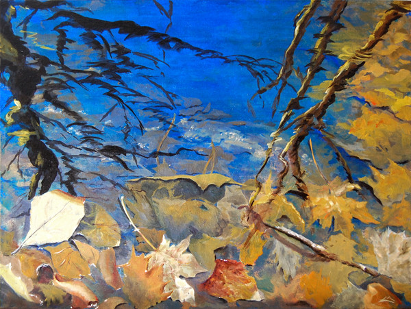 Marny Lawton, Reflections, Triple Vision, Oil