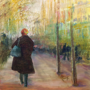 B. Rositto, Sunset in the City, Oil on Linen