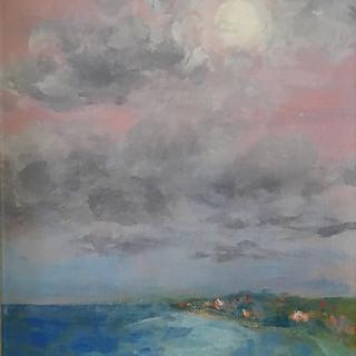 Patricia Louise Corbett, Full Moon Rising, Oil