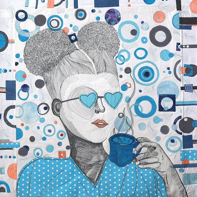 Clara Nartey, Eye Heart My Puffs, Threads on Cotton
