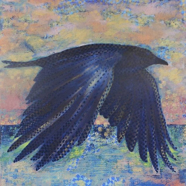Rosemary Cotnoir, As the Crow Flies #1, Oil on Linen