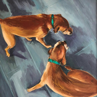 Andi Pepper, Buddy and Harry, Oil on Canvas