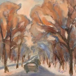 Patricia Louise Corbett, First Snow, Oil