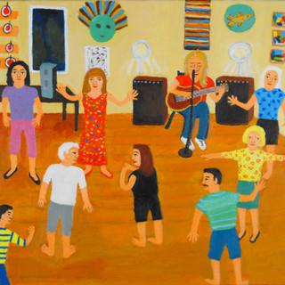 Ann C. Rosebrooks, Celia Sings, Acrylic