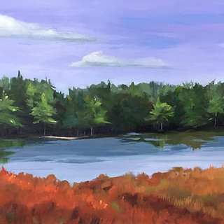 Andi Pepper, The Connecticut River, Oil on Canvas
