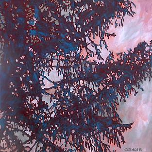 Cotnoir_Rosemary_Sunrise Abstract_oil on