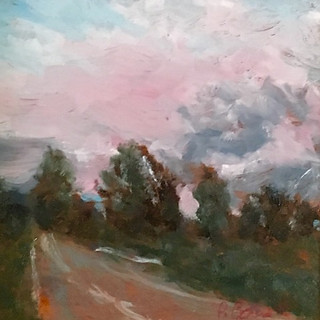 Patricia Louise Corbett, Nothing But Pink Skies, Oil