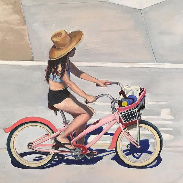 Vireginia Zimmermann, Pink Rider, Oil