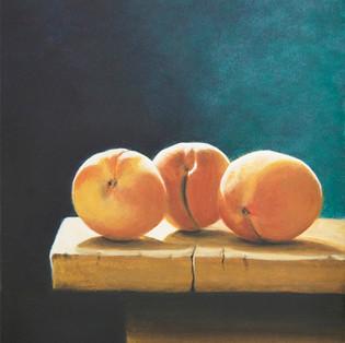Marny Lawton, 3 Peaches, Egg Tempera