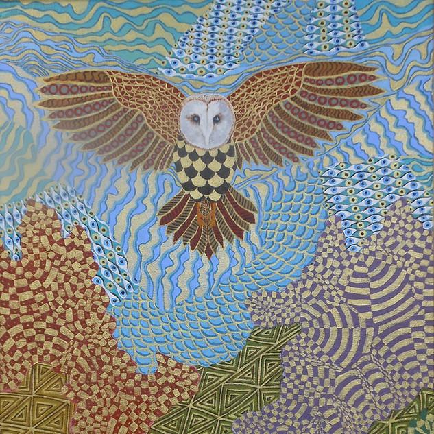 Rosemary Cotmoir, Wisdom in Flight, Acrylic on Linen