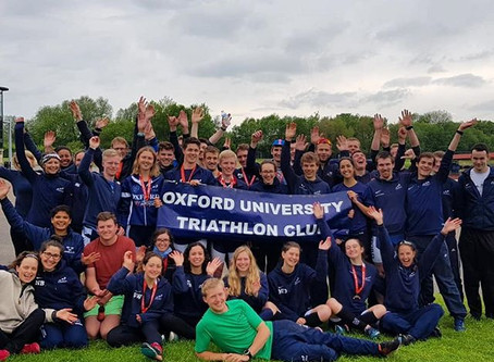 OUTriC celebrate their most successful Varsity Triathlon in the history of the club!