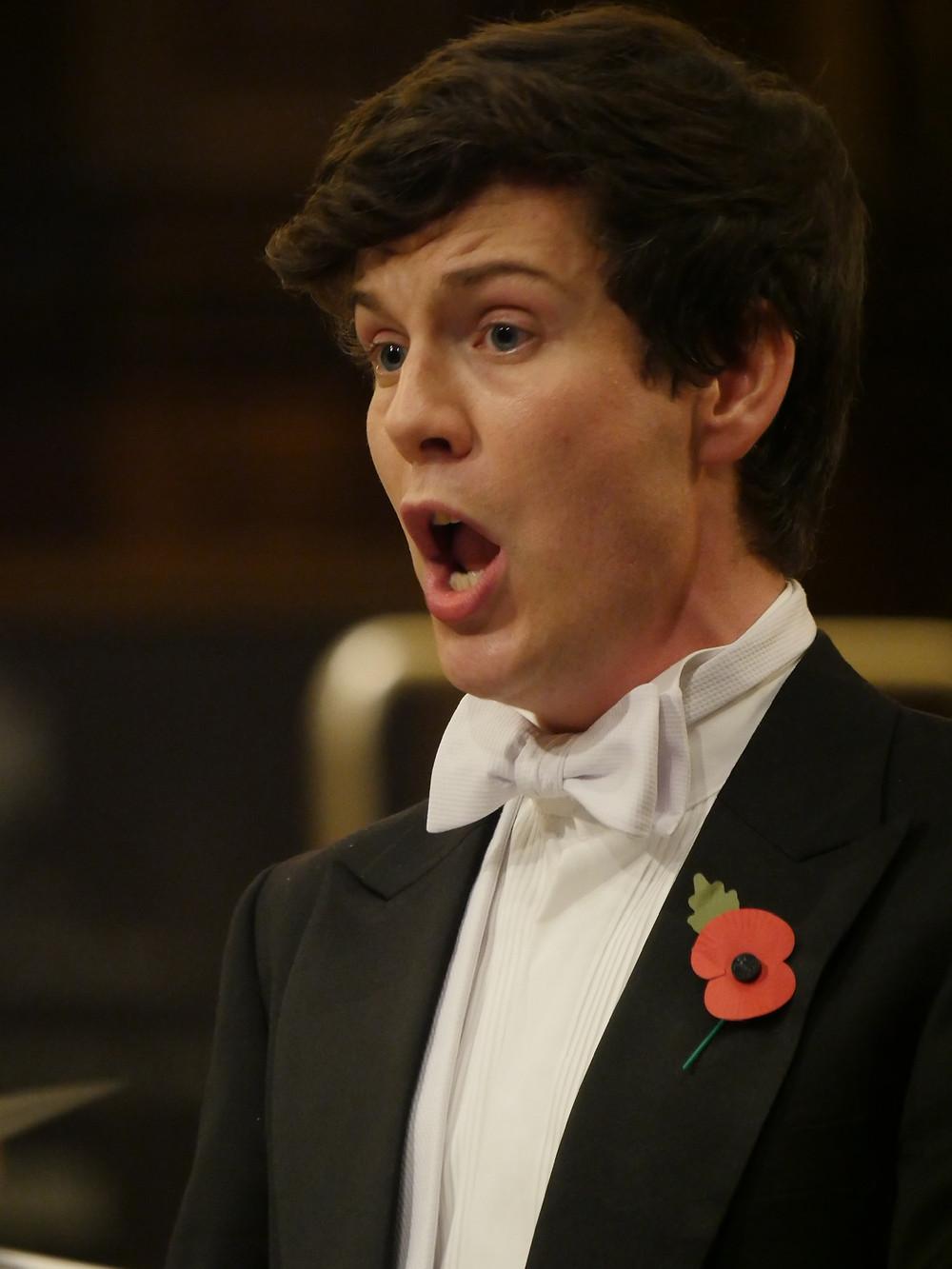 Tenor soloist, James Micklethwaite