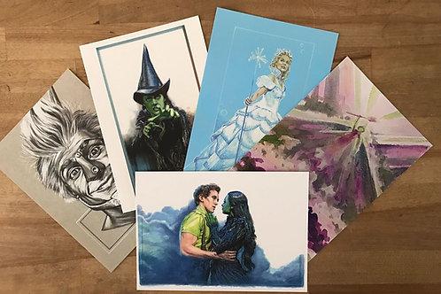 Wicked postcards - 6 x standard A6 size