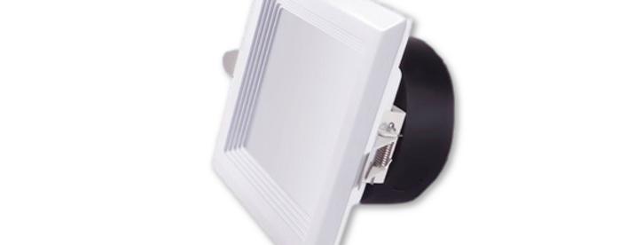 Led downlight square 5'' ( round  cutout) 15 watts, White 4000K