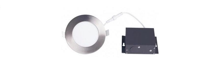 """LED Downlight 4"""" 12W 4000K Metallic"""