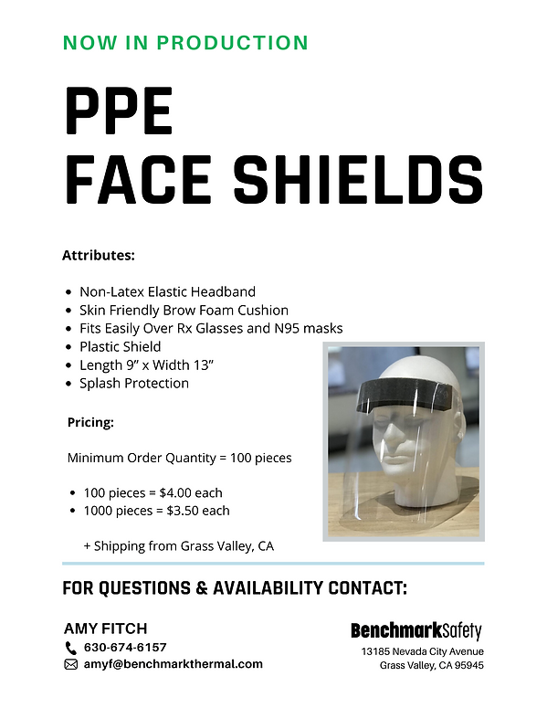 Copy of PPE Face Shields Flyer - Benchma