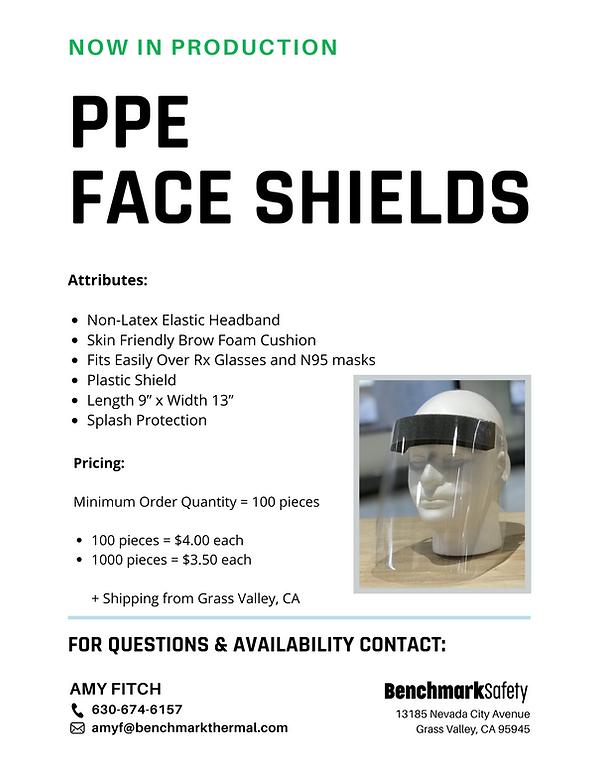 Copy of PPE Face Shields Flyer - Benchma
