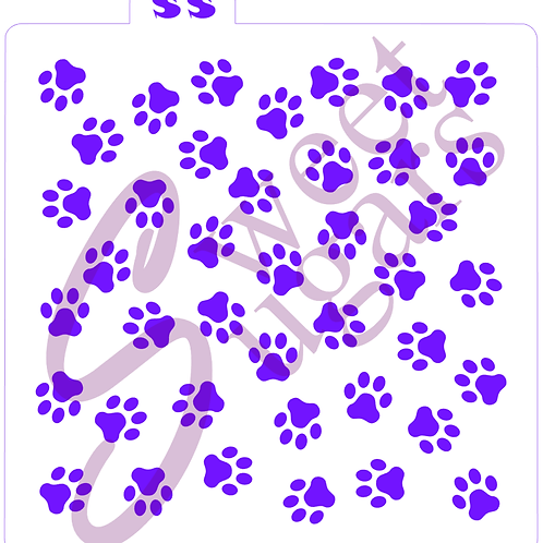 Dog Paw Print Background - Traditional or Silkscreen