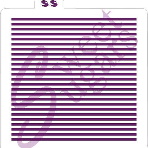 MINI Even Stripes Background Silkscreen Stencil