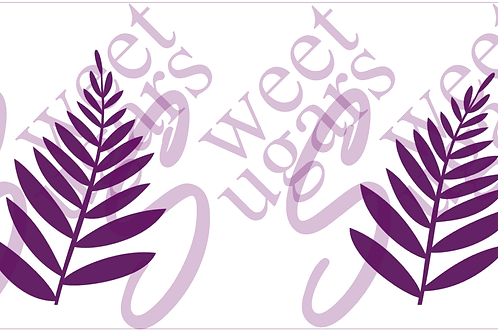 (WS) Cake - Large Fern Silkscreen Stencil - 2 Lengths Available