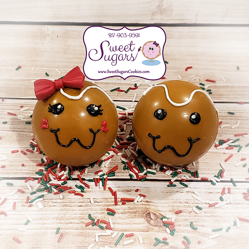 Gingerbread Kids Salted Caramel HCB, Mini or Regular, Single or Set *NO SHIPPING
