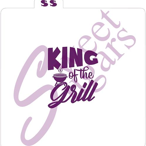King of the Grill Silkscreen Stencil
