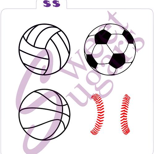 Mini Sports Balls Silkscreen Stencil