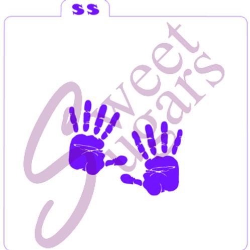 Double Hand Print Silkscreen Stencil