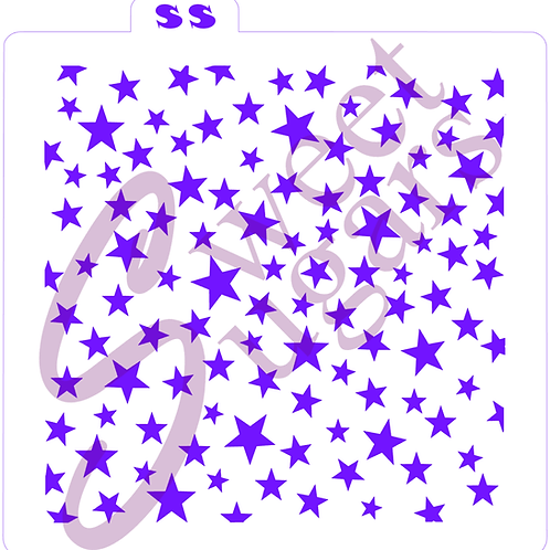 Stars Traditional Stencil - Scattered, Varying Sizes