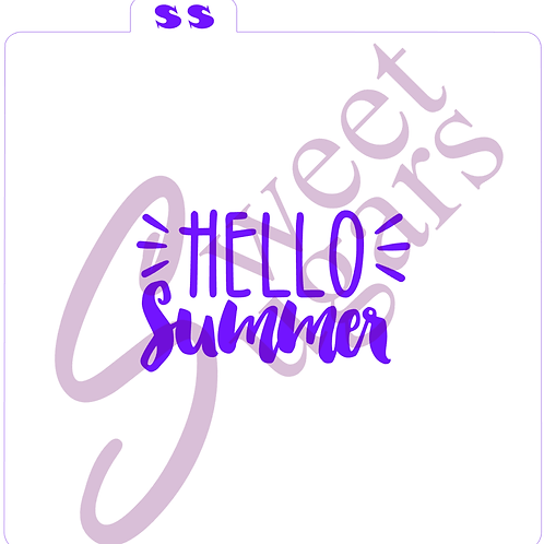 Hello Summer Silkscreen Stencil
