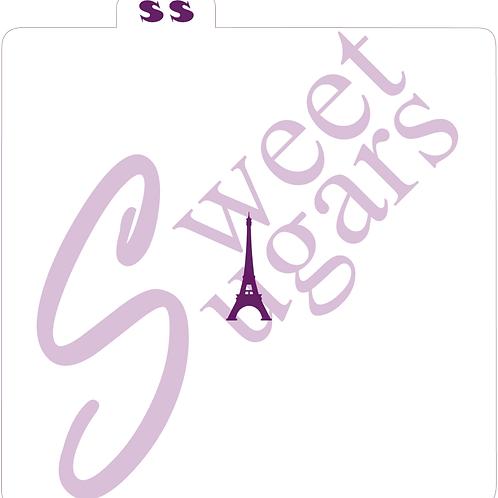Mini Eiffel Tower Silkscreen Stencil