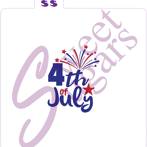 4th of July 2 Part Silkscreen Stencil