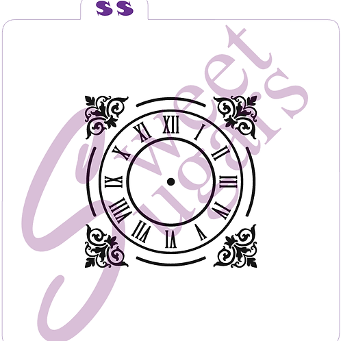 Clock Face Silkscreen Stencil