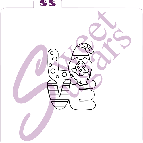 Easter PYO (Paint Your Own) LOVE Gnome with Egg Silkscreen Stencil