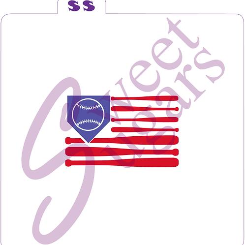 Baseball Flag 2 Part Silkscreen Stencil