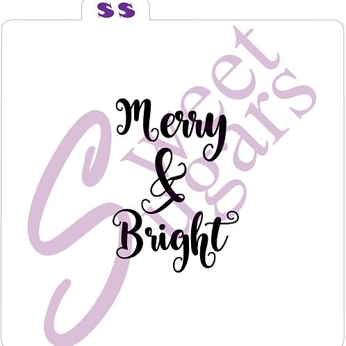 Merry &  Bright (Text Only) Silkscreen Stencil