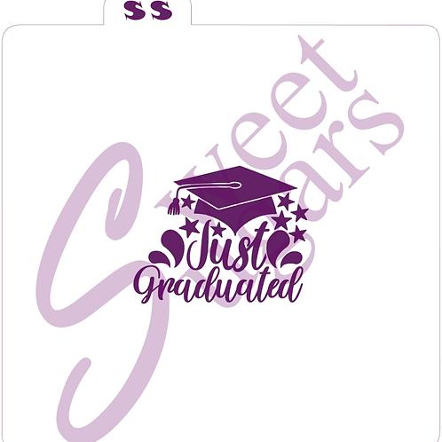 Just Graduated, Cap & Stars Silkscreen Stencil