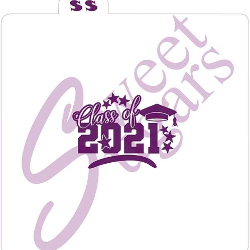 Class of 2021, Cap & Stars Silkscreen Stencil