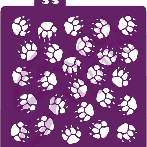 DOWNLOAD ONLY - Bear Paw Print Background Stencil