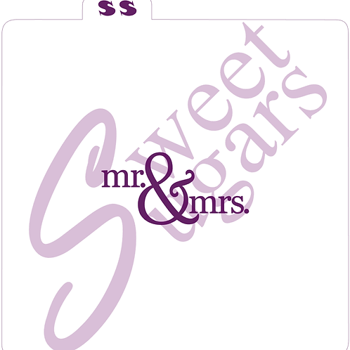 Mr. & Mrs. Fancy Silkscreen Stencil